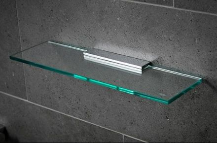 Miller Miami Chrome Glass Shelf